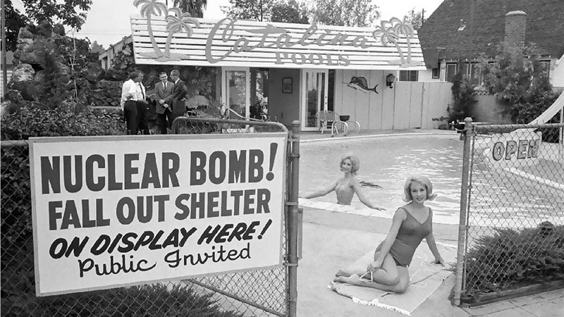 Atomic shelters for sale, Los Angeles, 1961