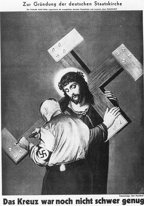 The cross was not heavy enough John Heartfield, 1934