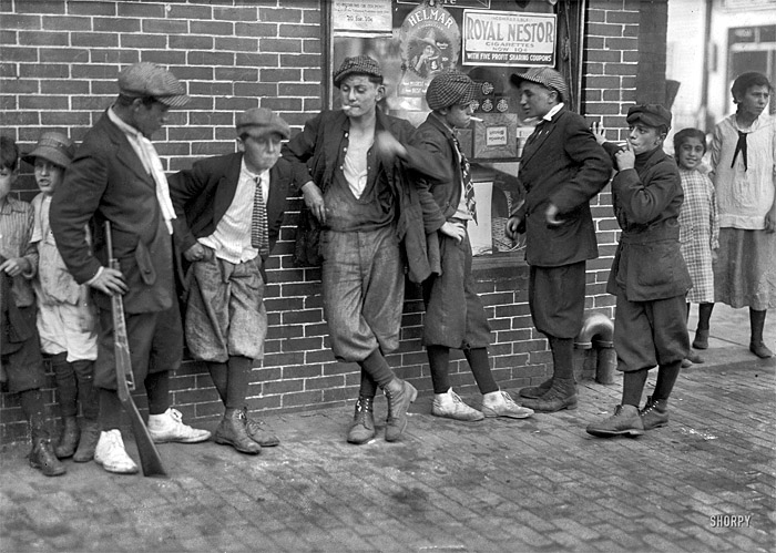 A street Gang from 1916