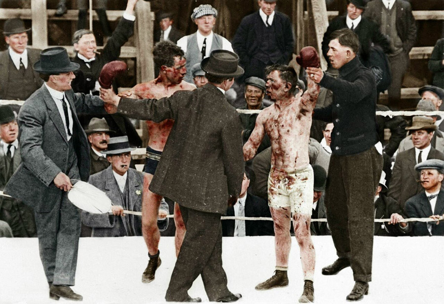 Ray Campbell vs Dick Hyland (1913)