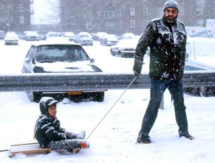 Sergei Dovlatov with his son Nicholas. NYC, 1980s