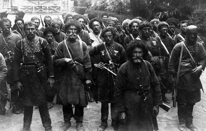 Georgian anarchists arriving to fight against Soviet Army (1921)