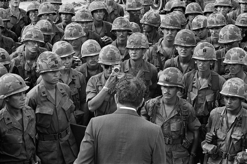 President Nixon visits with US soldiers in Vietnam, July 30th 1969.