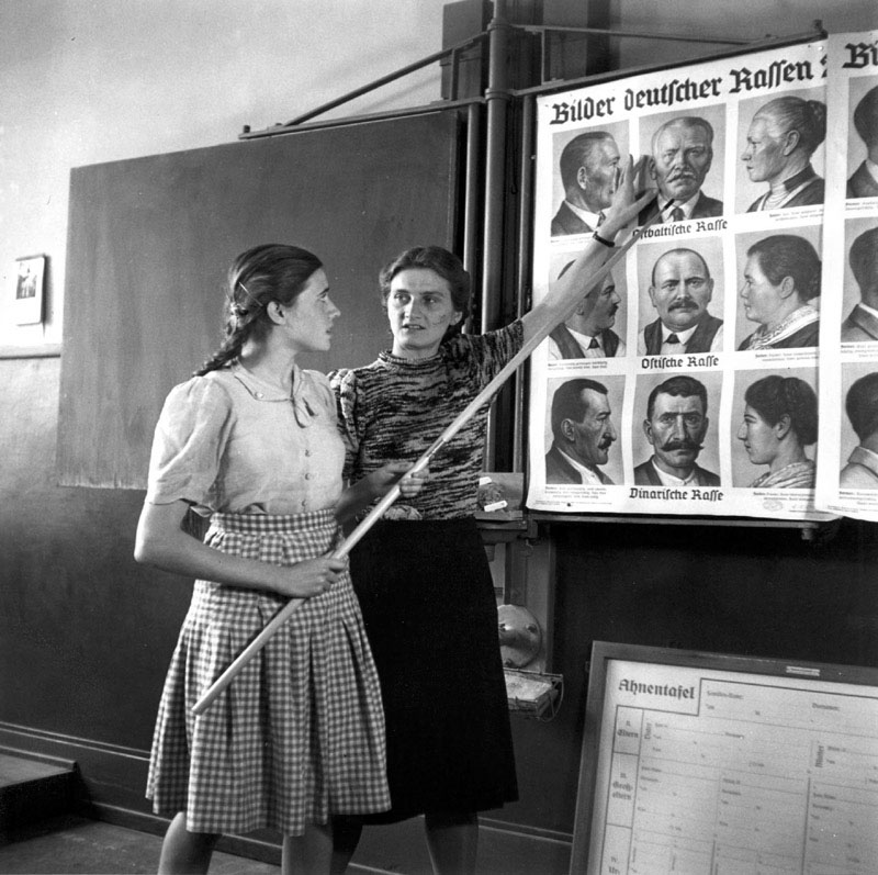 A Race Education Class at a School for German Girls, 1943