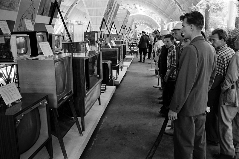 Soviet television and radio exhibition in Sokolniki Park, Moscow, August 5th, 1959
