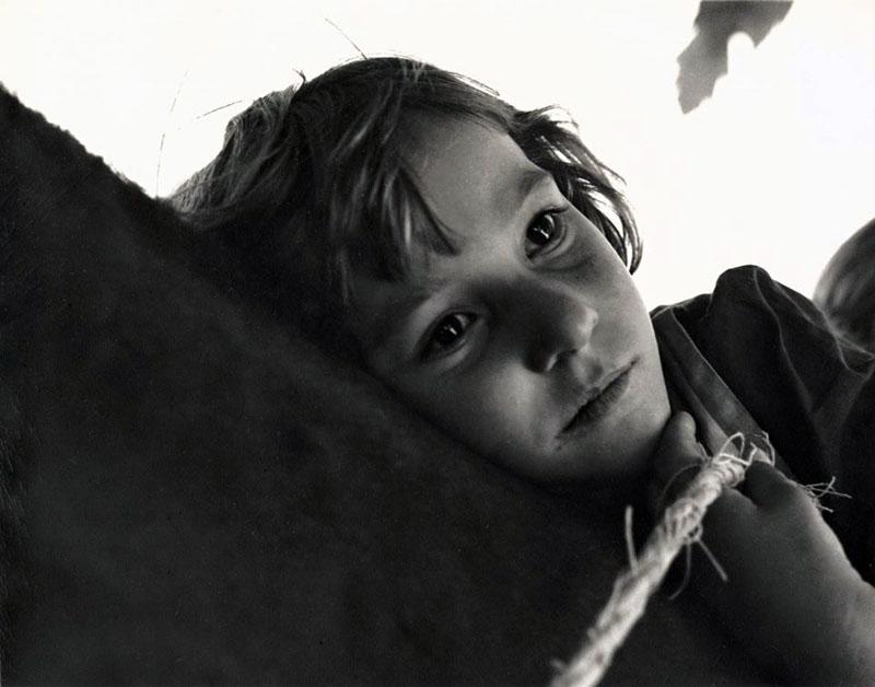 Dorothea Lange. Girl with horse. Gunlock, Utah. 1953