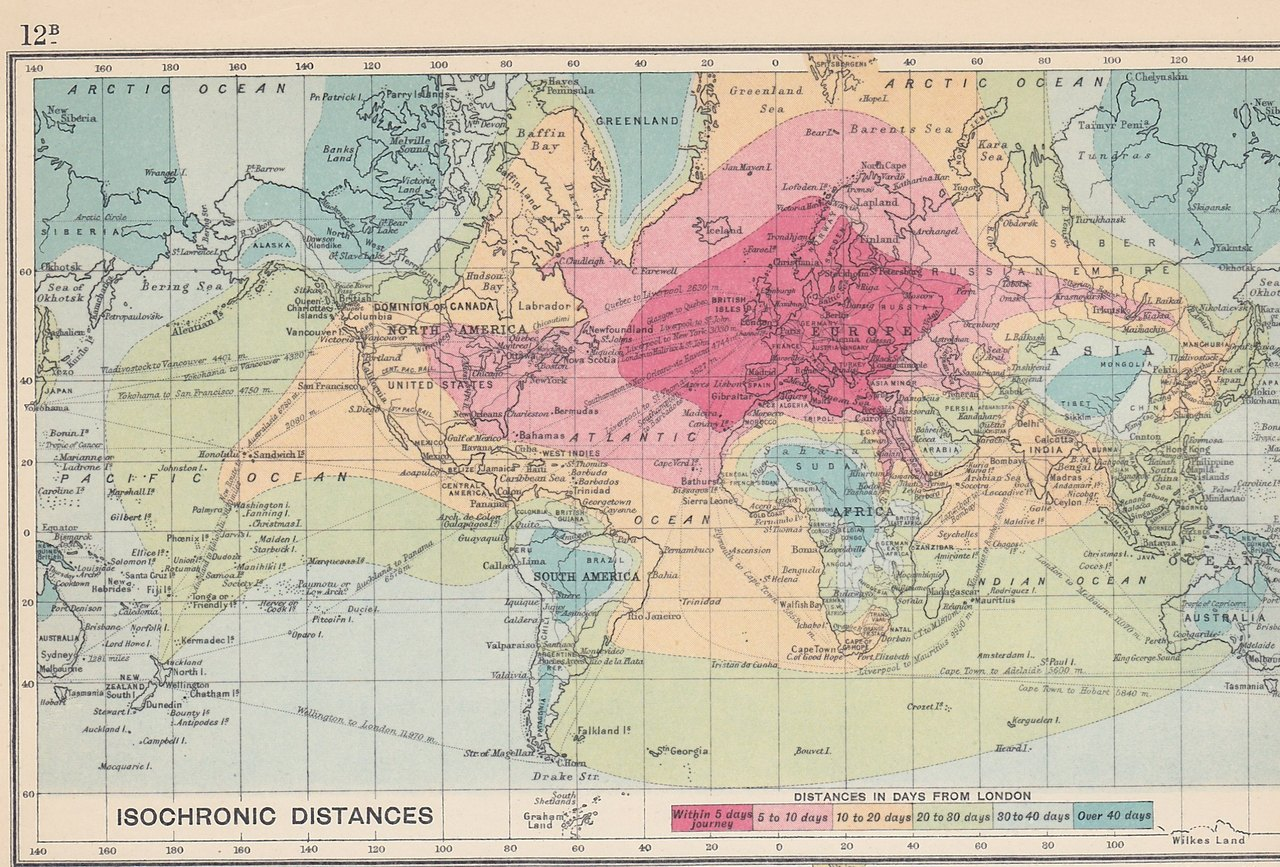 Travel Times From London in 1914