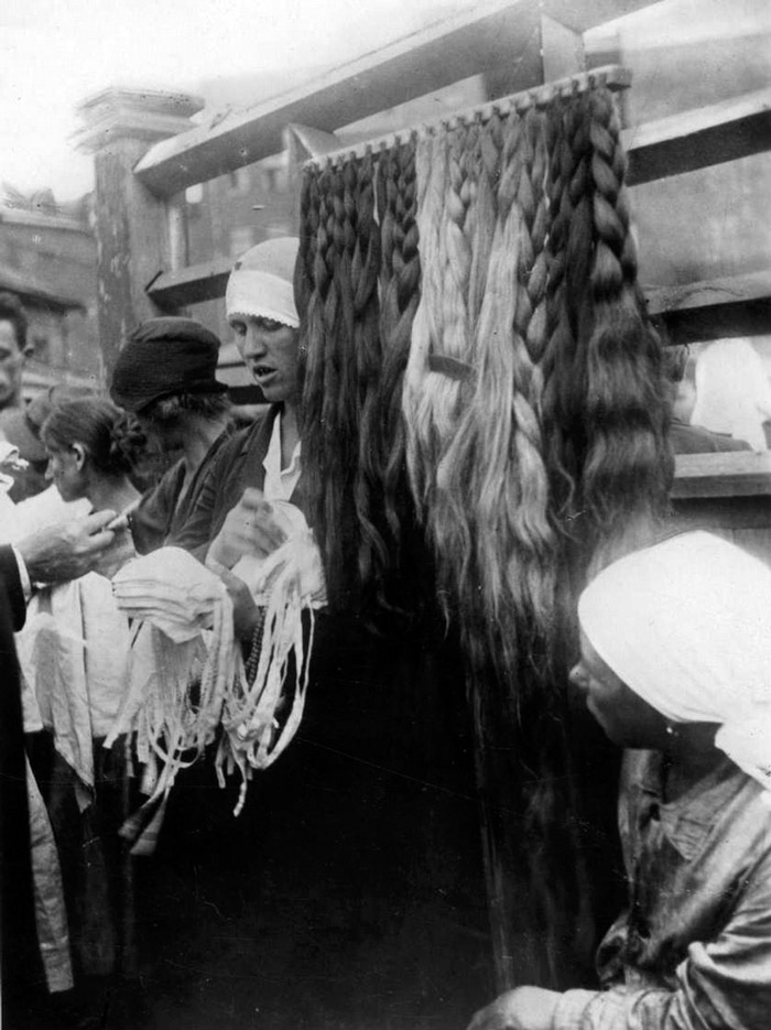 Wigs for sale. Moscow, 1933