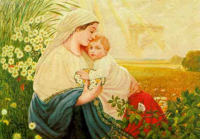 «Мать Мария со Святым младенцем Иисусом Христом». Адольф Гитлер. 1913 г.