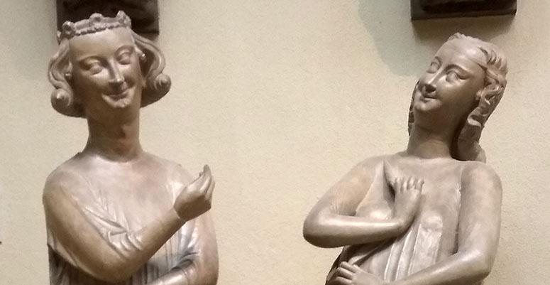 Фрагмент скульптур.