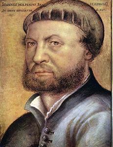 Ганс Гольбейн Мл. Автопортрет. 1542 г.  Художнику 45 лет (за год до смерти)