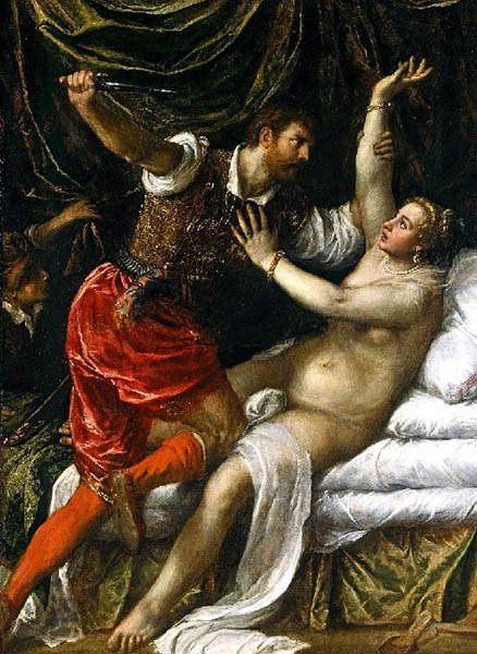 Тарквиний и Лукреция. Тициан Вечеллио..jpg
