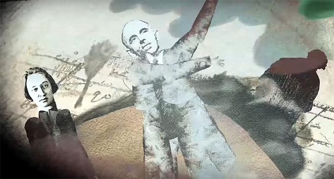 Кадр из фильма. Мандельштамы Надежда и Осип.