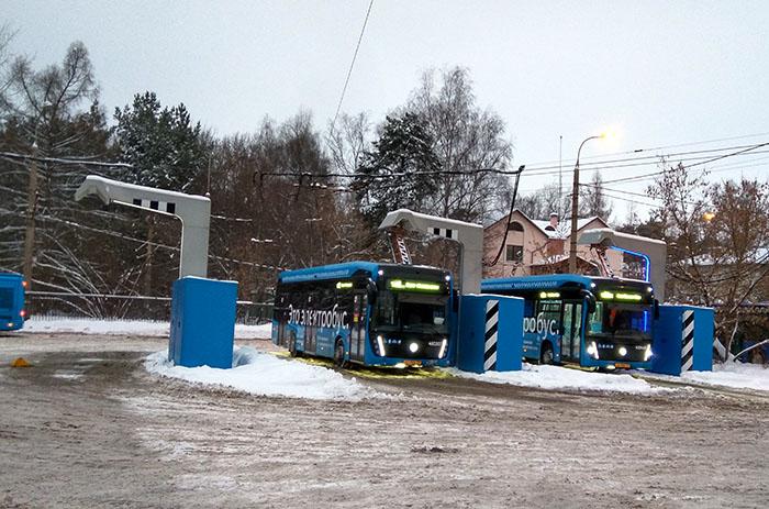 Заправка электробусов.