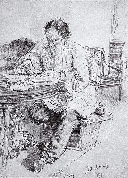 репин 1891 Л. Н. Толстой за работой у круглого стола.jpg