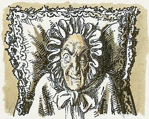 """Бенуа А.Н. Портрет графини. Иллюстрация  к """"Пиковой даме""""."""