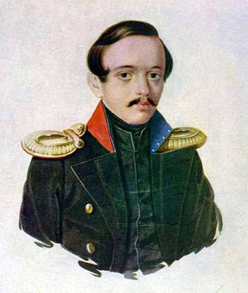 Клюндер А.И. Лермонтов в сюртуке лейб-гвардии Гусарского полка. 1839. Акварель.