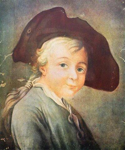 Неизвестный художник. Портрет А. В. Суворова в детстве..jpg