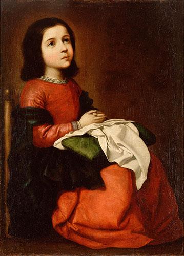 Сурбаран, Франсиско де Отрочество Марии.jpg