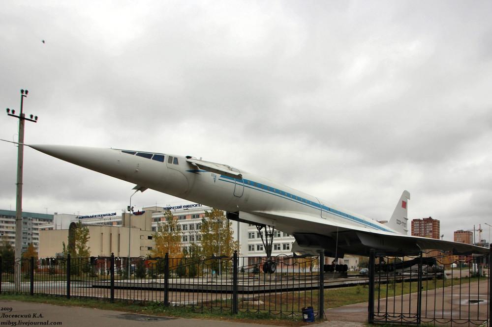 Памятник Ту-144 в Казани самолёты,авиация,Ту,Татарстан