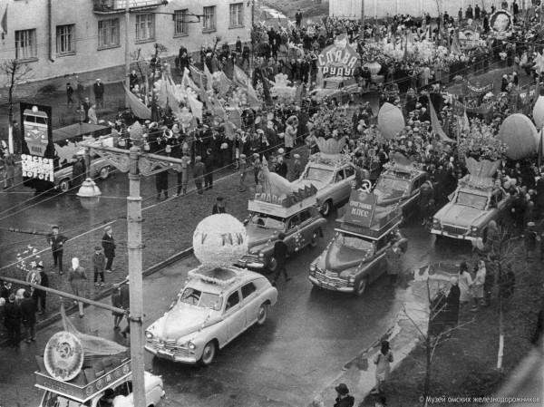 Демонстранты Ленинского района, 1 мая 1965г