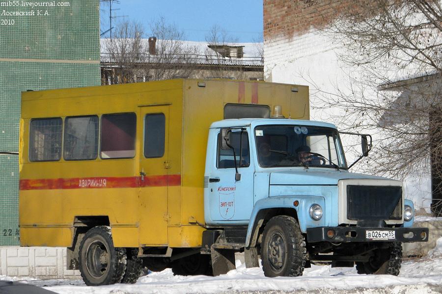 ОАЗ-9437 ГАЗ-3307 ЭИЛ-10Т 2