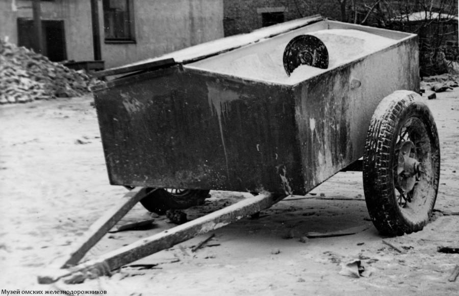 Бункер-тележка для перевозки и хранения сыпучих грузов