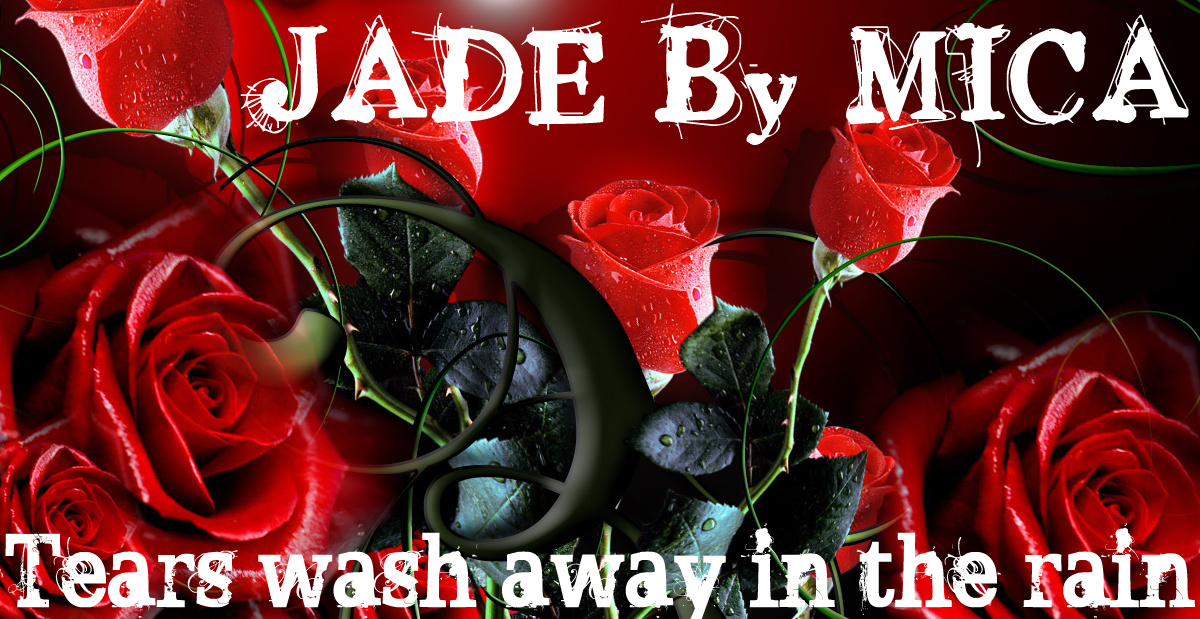Jade Black & Red Roses