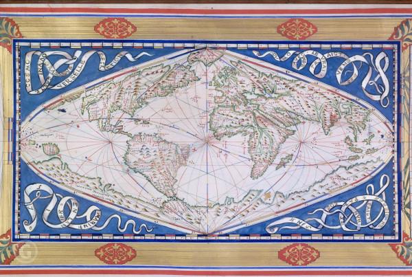 Подлинная карта мира 1750 года.