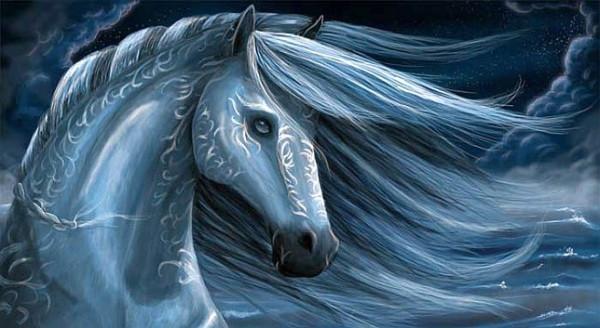 Синяя лошадь