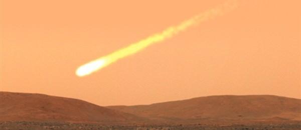 Падение кометы на Марс