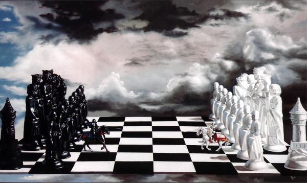Человечество -- лишь фигуры на шахматной доске