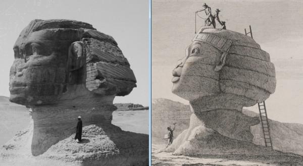 Современные пирамиды Гизы и Сфинкс - это