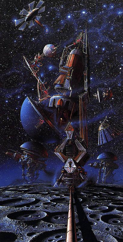 База пришельцев в космосе