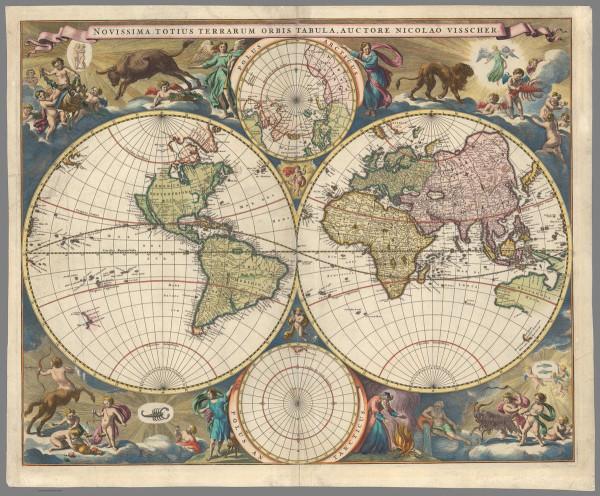 Настоящая послепотопная карта мира.