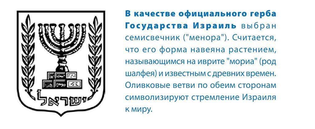 Герб Израиля.