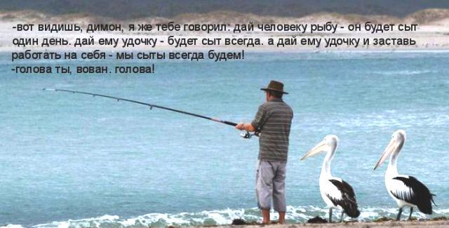 если посоветовать  человека обнаруживать рыбу автор накормим его в всю жизнь