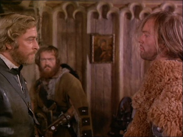 "Caine and Gothard in ""The Last Valley"""