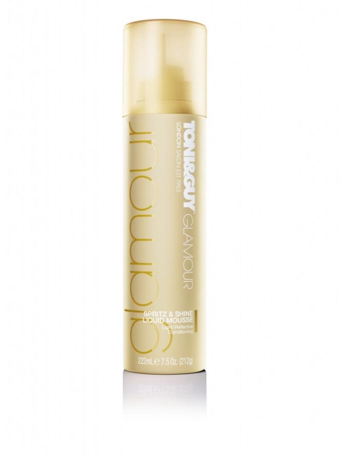 TONI&GUY_Glamour_spritz_shine_liquid_mousse_supply
