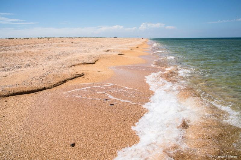 Ездили купаться на Азовское море, на Арабатскую стрелку