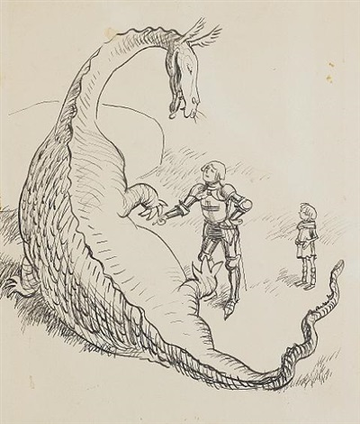ernest-h.-shepard-the-reluctant-dragon,-now-youre-tickling,-george