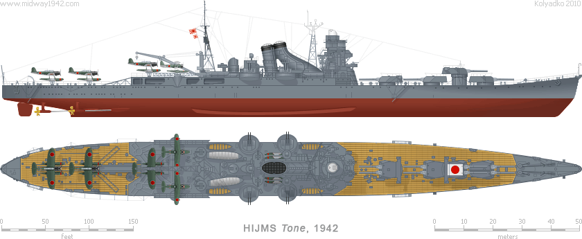 """IJN Heavy Cruiser CA-17 """"Tone"""""""