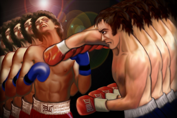 Bodie knocking out Doyle