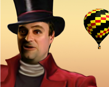 thumbnail of rodney in top hat, hot air balloon in background.
