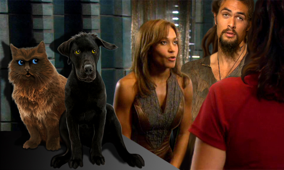 John and Rodney as a dog and cat, with Teyla and Ronon making excuses to Elizabeth, after a mission gone wrong.