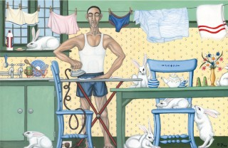 At Home with the Rabbits, Maurice was a Completely Different Person