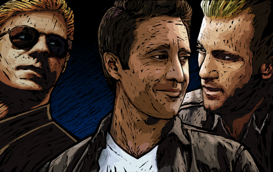 horatio, Steve looking right, and Danno - bit angsty