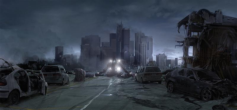city at night - cars
