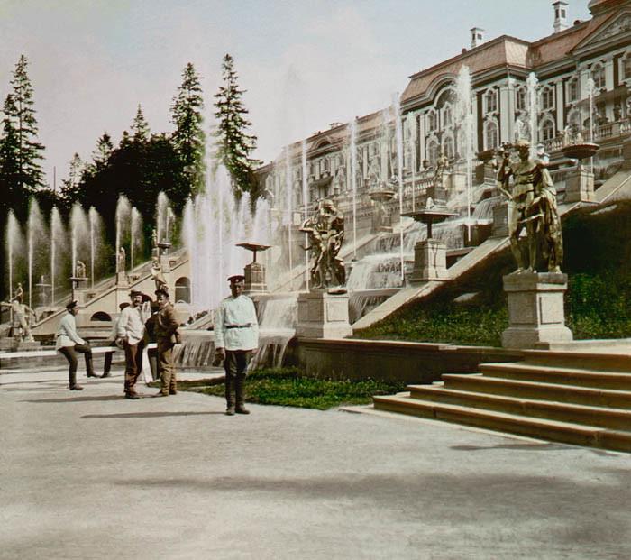 F. Krátký 1896. Peterhof - Kaskády