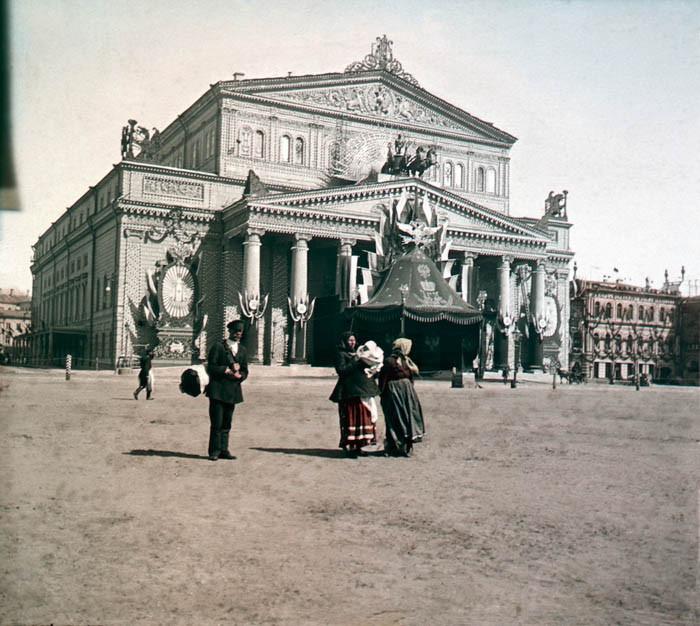 F. Krátký Moskva, 1896. Moskva - budova Orlího klubu. Velké divadlo.